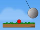Красный шар на платформе