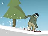 Скоростной спуск на сноуборде 2