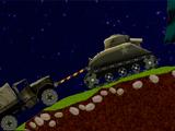 Танк и грузовые автомобили