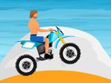 Мотоциклист на пляже