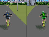 Двойное сражение велосипедистов