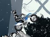 Зимний вызов для мотоциклиста