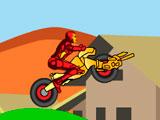 Железный человек на мотоцикле