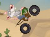 Крыса на грязном байке