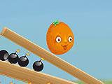 Двигающийся апельсин