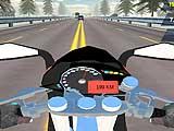 Скоростное шоссе: водитель мотоцикла