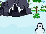 Побег пингвина на льдину