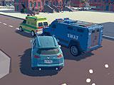 3D город: гонки для 2 игроков