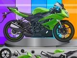 Сборка мотоцикла Кавасаки Ниндзя