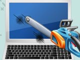 Разбить ноутбук