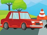 Быстрое вождение на дороге