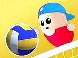 Бобы играют в волейбол