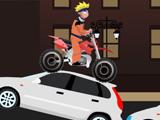 Трюки на мотоцикле Наруто