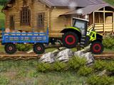 Фермерский грузовой трактор