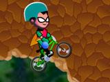 Юные Титаны: Гонка на велосипеде