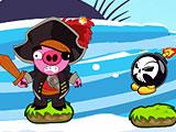 Бомбы против свиней - пиратов