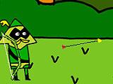 Зеленая Стрела и зеленый указатель