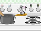 Побег мышонка Марл из кухни