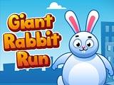 Гигантский кролик бежит